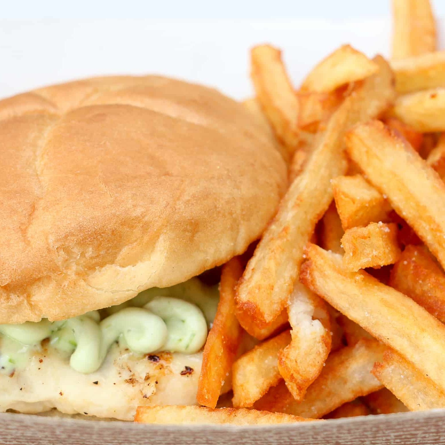 Chicken sandwich & frites